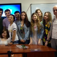 My friend, Alina's, seminar class at Saint Petersburg State University of Film and Television.