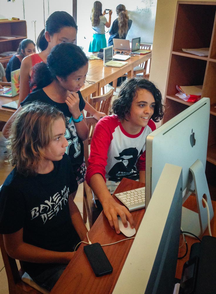 Editing workshop with students at Montessori Bali School, Indonesia.